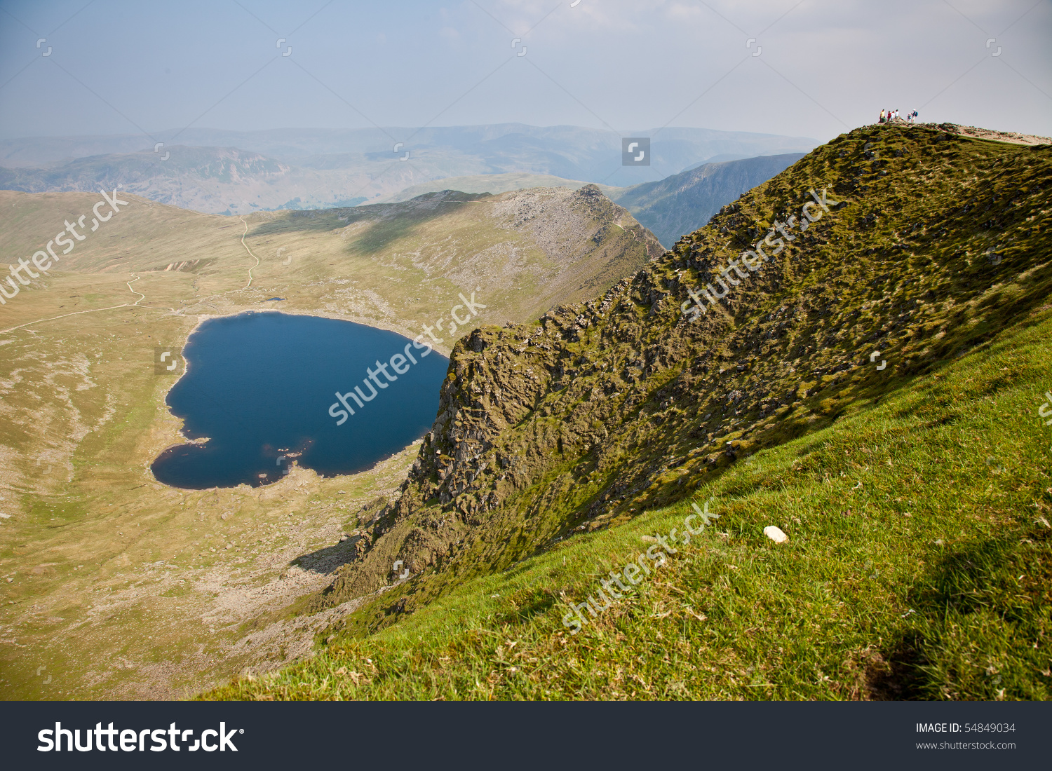 View From The Top Of Helvellyn Mountain In The Lake District.