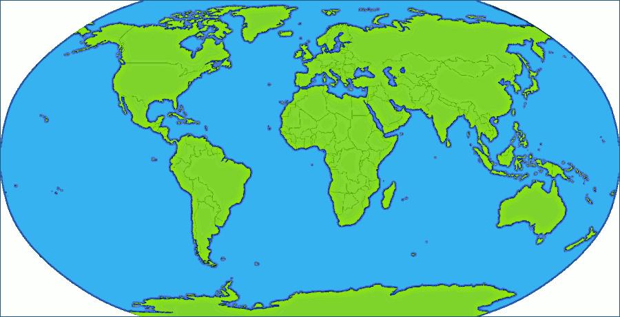 Globe Map Clipart.
