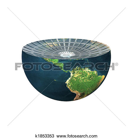 Drawing of earth hemisphere isolated on white k1853353.