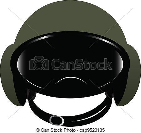 Clipart Vector of Modern helmet.