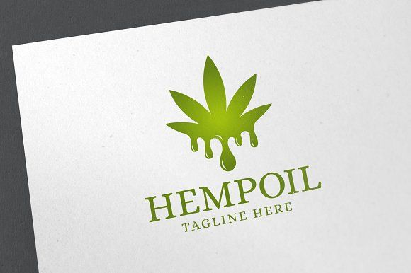 Hemp Oil Logo by emotions76 on @creativemarket.