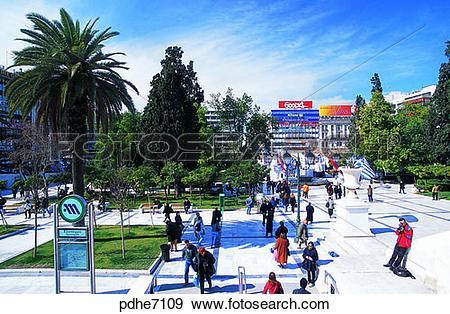 Stock Photograph of Sintagmasquare, plaza, square, plaza, coconut.