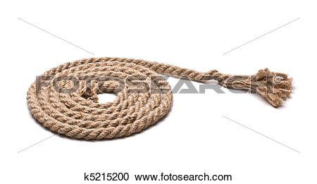 Stock Photography of coil of hemp rope k5215200.