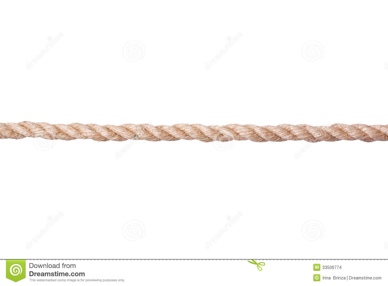 Twisted Manila Rope Isolated On White Stock Images.