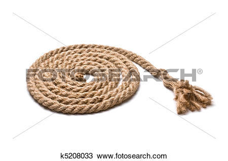 Stock Photo of coil of hemp rope k5208033.