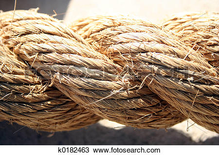 Stock Photo of Traditional Hemp Rope k0182463.