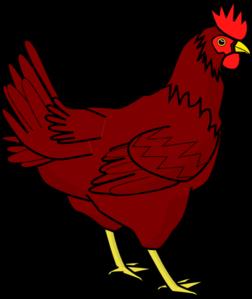 Cute Hen Clipart.