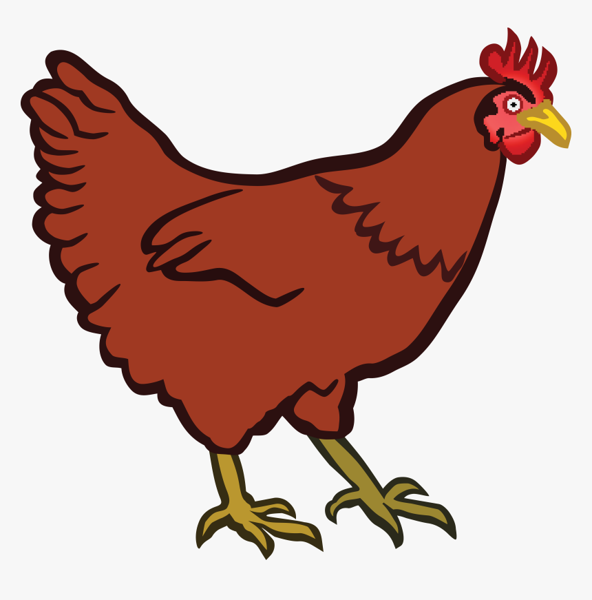 Chick Clipart Red Hen.