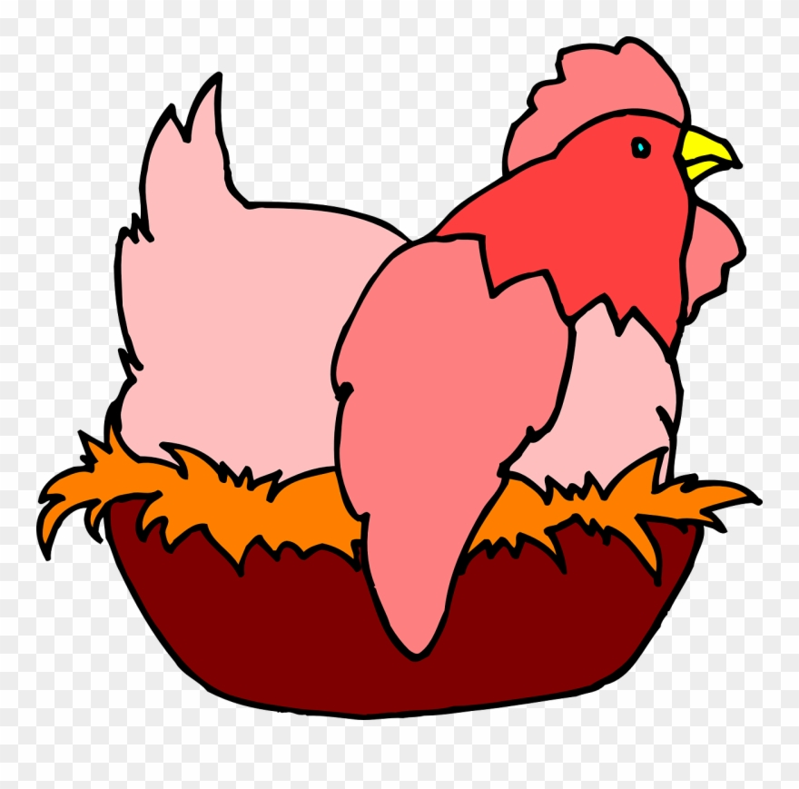 Red Hen On A Nest Clipart (#114723).