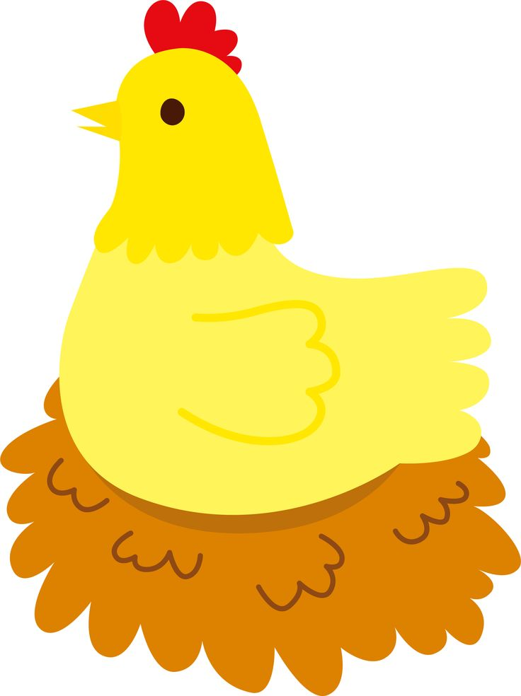 Hen with nest line art free clip image clipart 3.