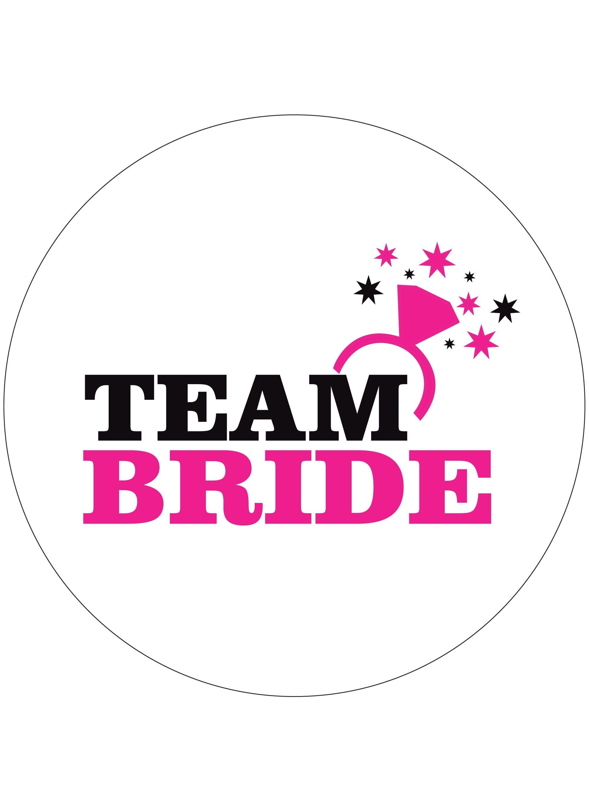 Team Bride Hen Party Badge.