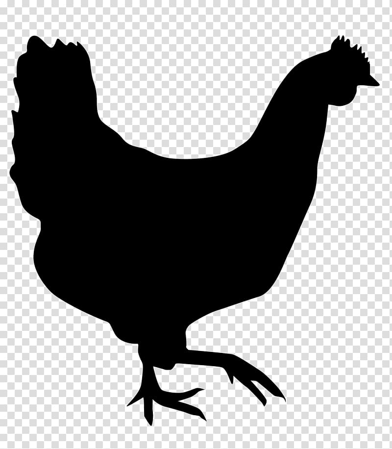 Hen Chicken meat Silhouette Drawing, silhouettes transparent.