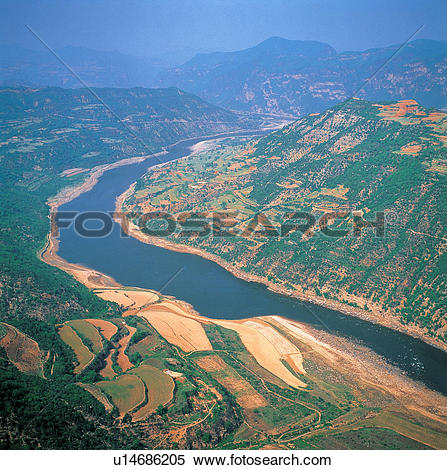 Stock Image of the Yellow River,Henan Province,China u14686205.