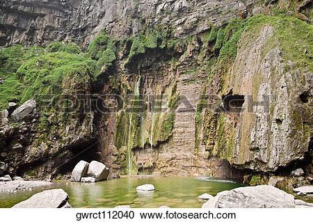 Stock Photography of Rocks in a stream, Mt Yuntai, Jiaozuo, Henan.