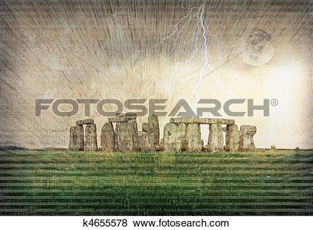 Stock Illustration of Stone Henge k4655578.