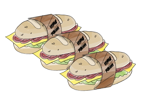 Sandwich sleeve.