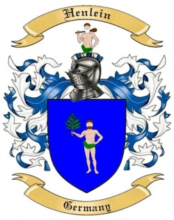 Henlein Family Crest from Germany by The Tree Maker.