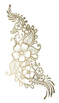 biege and gold flower clipart.