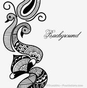 Henna Design Clip Art, Vector Henna Design.