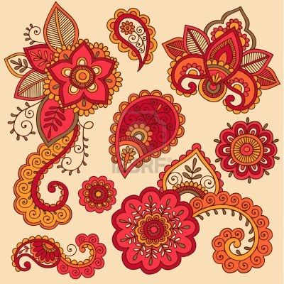 Henna Clipart Galería y la realeza de henna vectores gratis.