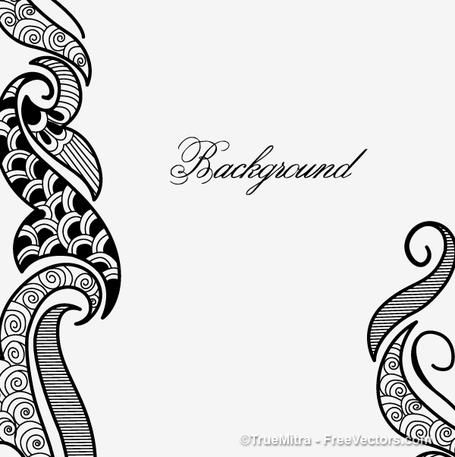Henna Clip Art, Vector Henna.