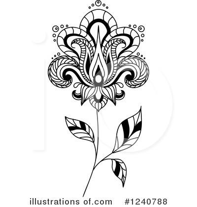 Henna Flower Clipart #1240788.