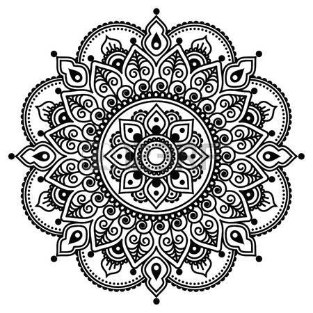 Henna Design Clipart.