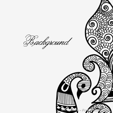 Henna Design Clipart Picture Free Download.