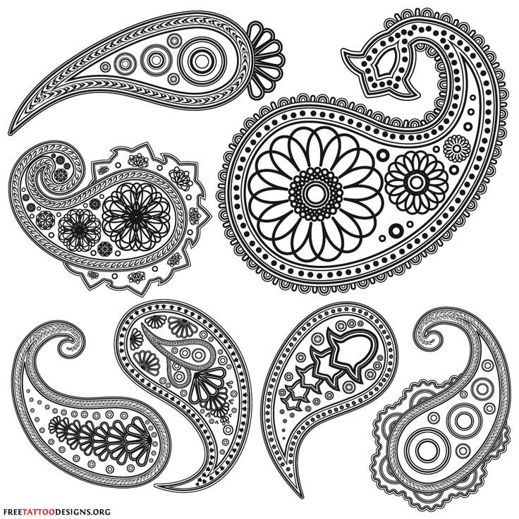 Simple clipart henna #12.