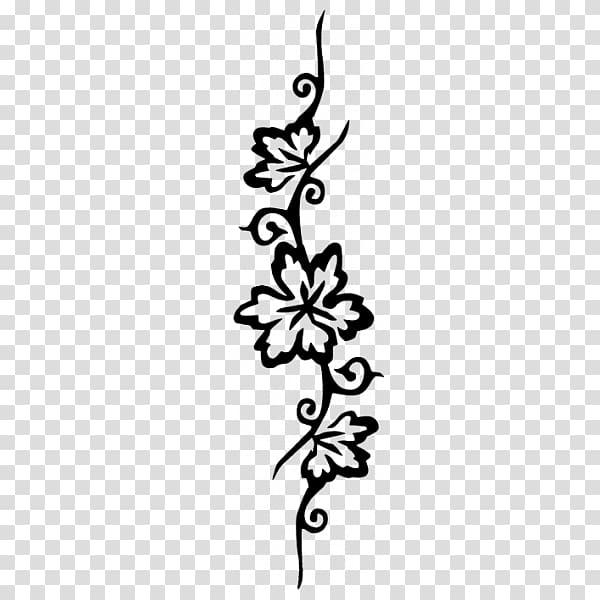 Stencil Henna Tattoo Mehndi, design transparent background.
