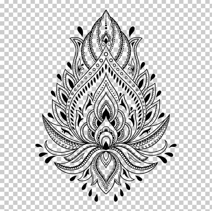 Henna Tattoo Mehndi Stencil Template PNG, Clipart, Art.