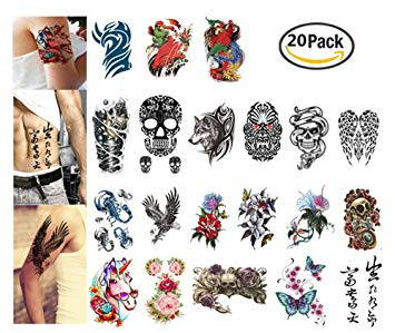 Amazon.com : Arm Tattoos Set By Garloy, 20 Pcs Henna Tattoo.