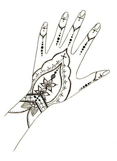 CLIP ART GALORE ~ Henna hand design.