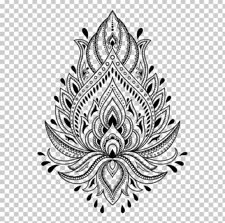 Henna Tattoo Mehndi Stencil Template PNG, Clipart, Art, Black And.