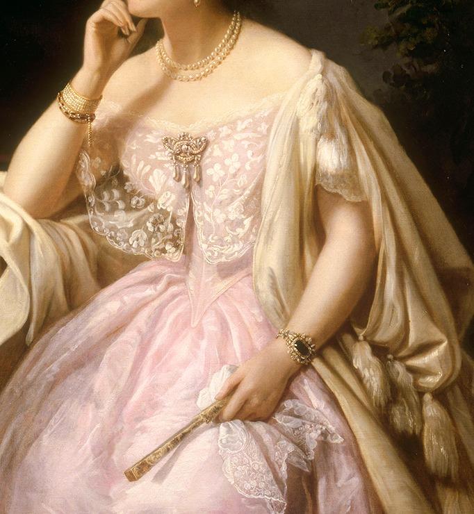Elizabeth Ann Haryett, by Henriette Jacotte Cappelaere, 1850.