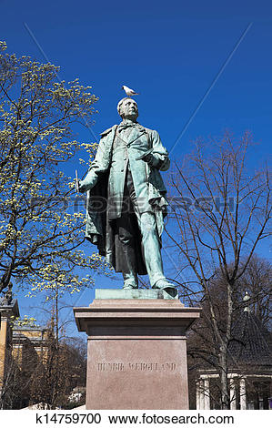Stock Photography of Monument to Henrik Wergeland k14759700.