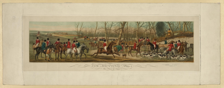 Fox Hunting, Plate 1.