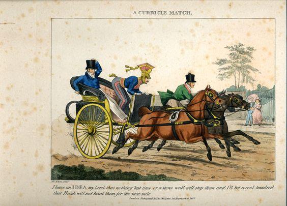 A Curricle Match. Henry Alken, c. 1830..