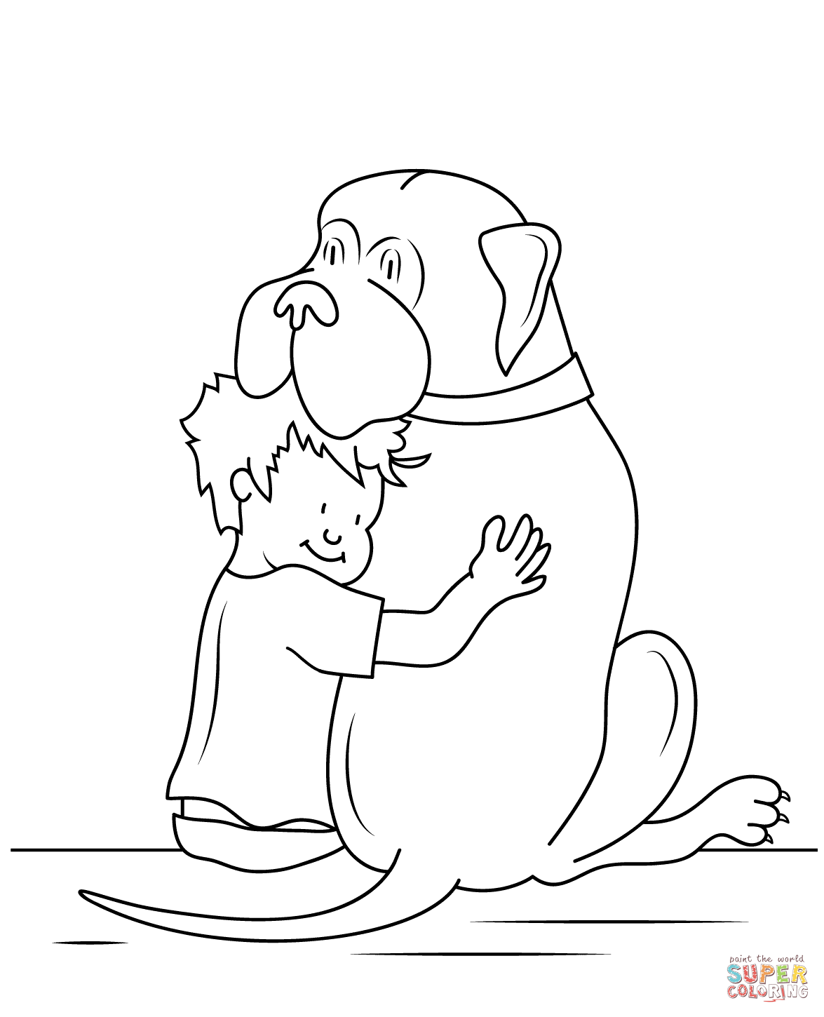 Henry and Mudge coloring page.
