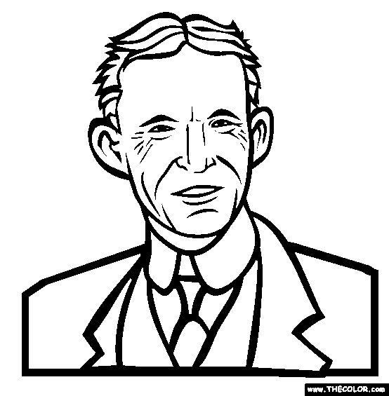 Henry Ford Coloring Page.
