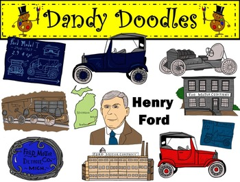 Henry Ford Clip Art by Dandy Doodles.