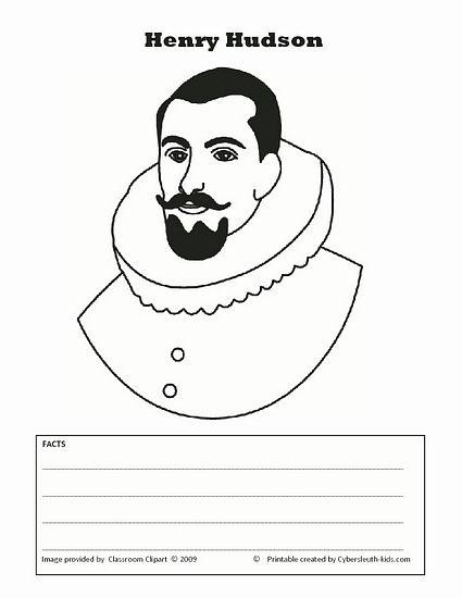 Henry Hudson printable.