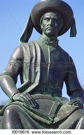Stock Images of Portugal, Algarve, Lagos, statue of Henry the.