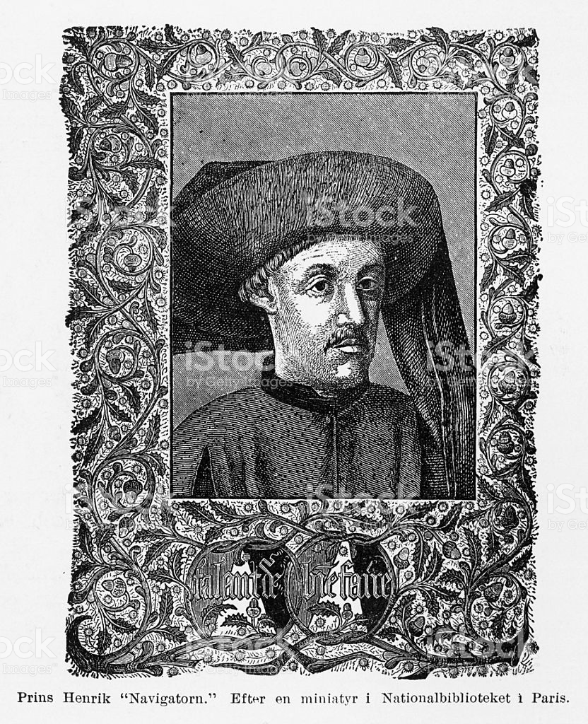 Portrait Of Prince Henry The Navigator Engraving Circa 1480 stock.