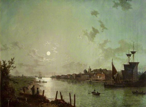 "Scene on the Thames"" by Henry Pether (1828."