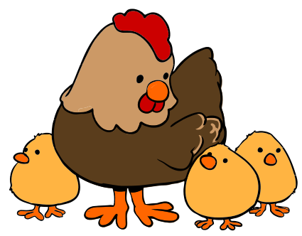 And Hen Chicksclipart Clipart.