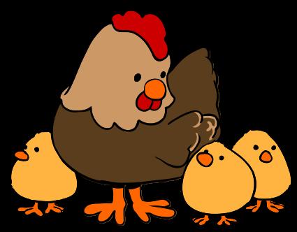 And Hen Chicksclipart Clipart.