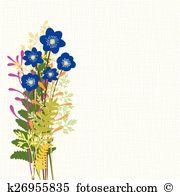 Hepatica nobilis Clip Art Illustrations. 6 hepatica nobilis.
