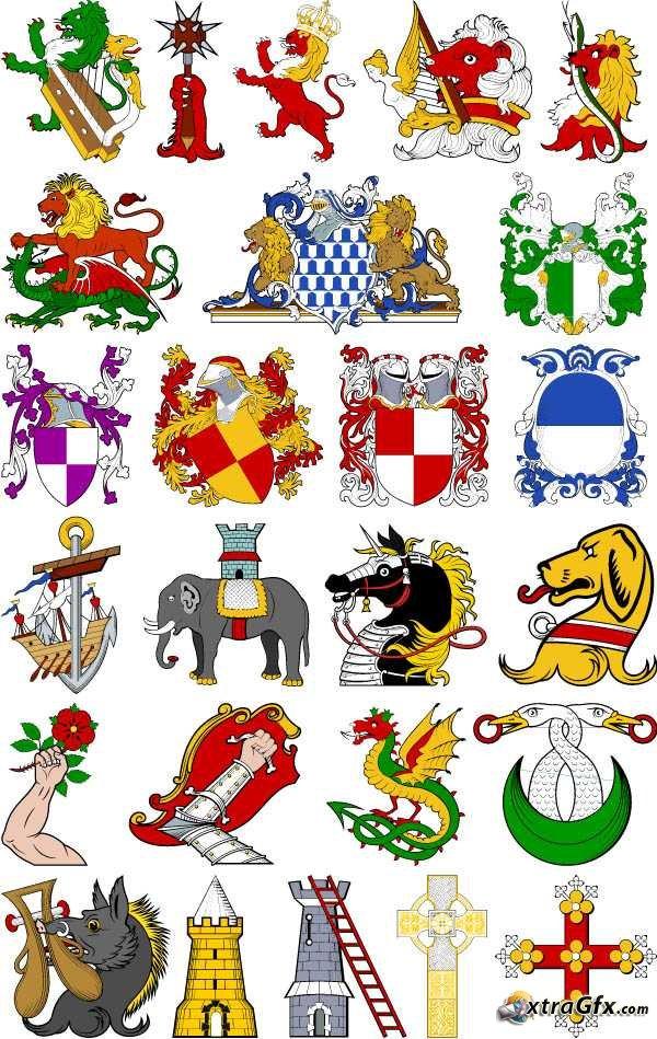 Heraldry Clip Art.