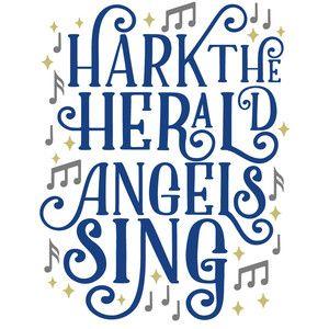 Silhouette Design Store: hark herald angels sing.